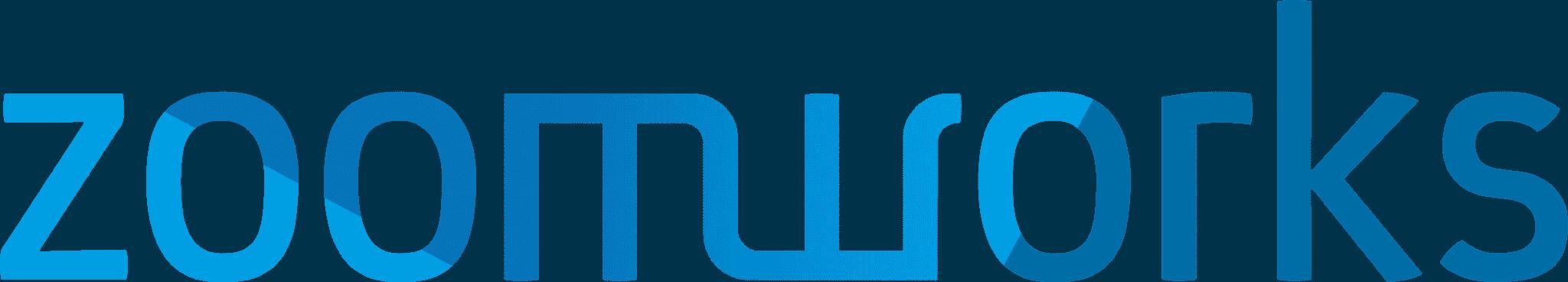 ZoomWorks logo blauw